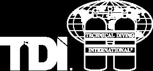 Technical Diving International Logo White